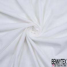 Jersey Coton Piqué Uni Blanc Optique Grande Laize