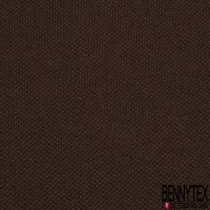 Jersey Coton Piqué Uni Brun Grande Laize