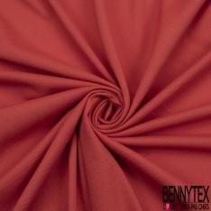 Jersey Coton Piqué Uni Corail Grande Laize