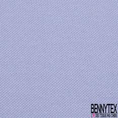 Jersey Coton Piqué Uni Bleu Lavande Grande Laize
