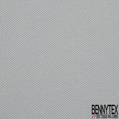 Jersey Coton Piqué Uni Perle Grande Laize