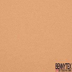 Jersey Coton Piqué Uni Jaune Pastel Grande Laize