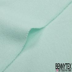 Jersey Coton Piqué Uni Vert d'eau Grande Laize