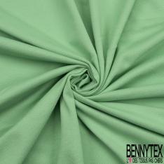 Jersey Coton Piqué Uni Vert Menthe Grande Laize