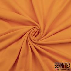 Jersey Coton Piqué Uni Orange Grande Laize