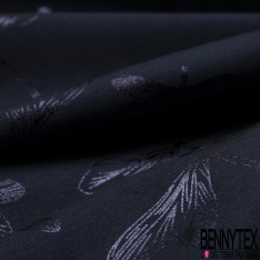 Jersey Coton Elasthanne Imprimé Libellule Mylar Marine fond Marine