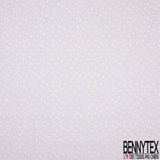 Coton Crétonne imprimé Motif petite Forme Amande Rose Pâle fond Blanc