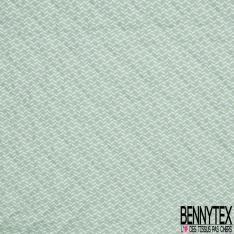 Coton Matelassé imprimé Recto Tippie Cactus fond Mastique Verso Fantaisie fond Vert