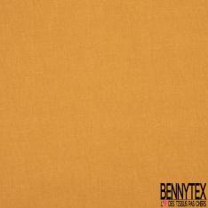 Coton Crétonne uni Orange Givré à effet de matière