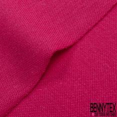 Jersey Coton Piqué Uni Fushia
