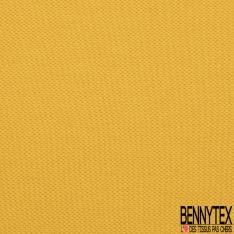 Jersey Coton Piqué Uni Moutarde