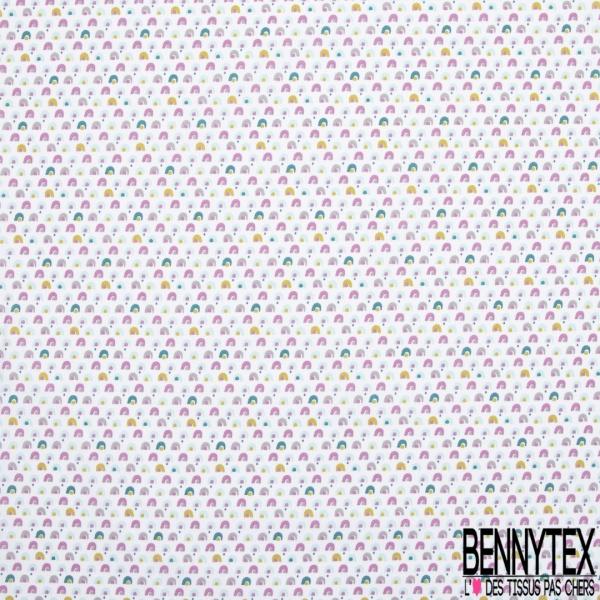 Coton imprimé petits motifs rigolos multicolores