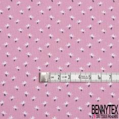 coton imprimé petits motifs originaux blancs avec détail bleu marine