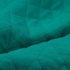 Jersey Coton Matelassé Double Face Uni Emeraude