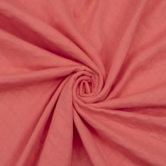 Jersey Coton Matelassé Double Face Uni Corail