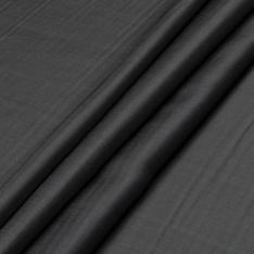 Satin de Coton de Soie uni double face gris et gris souris