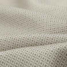 Pongé de Soie Imprimé motif assemblage de petit losange gris Fond blanc