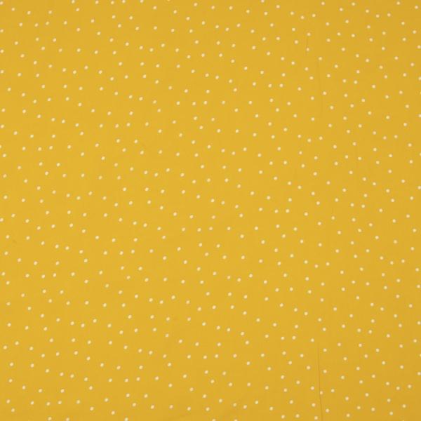 Fibrane viscose imprimé pois blancs Fond jaune
