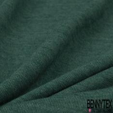 Jersey Laine Polyester Uni vert chiné