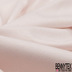 Jersey Coton Uni mini côte rose clair
