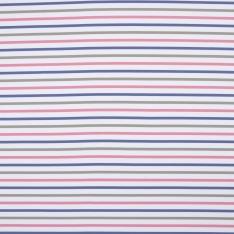 Lycra Maillot de Bain imprimé rayures roses bleues et grises Fond blanc