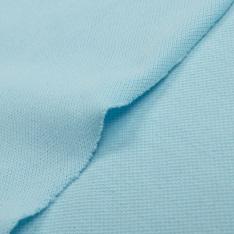 Jersey Coton Piqué Uni Turquoise Pastel