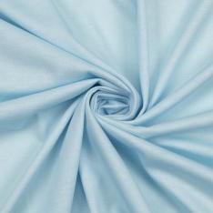 Jersey Coton Uni bleu pastel