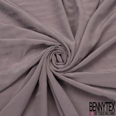 Crêpe de Chine gaufrée gris rosé