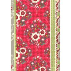 Coton Enduit Impression Perlinette Fushia