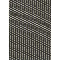 Coton Enduit Impression Maillane Noir