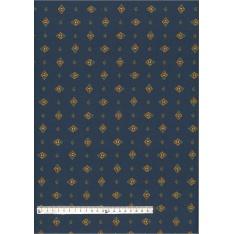 Coton Enduit Impression Croquet Bleu