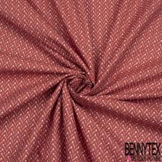 Crétonne 100% coton Impression Motif fantaisie Fond ocre-rouge