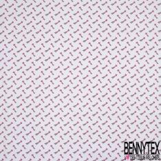 Crétonne 100% coton Impression Motif étoile filante girly Fond blanc