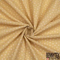 Crétonne 100% coton Impression Motif petites formes géométriques Fond jaune