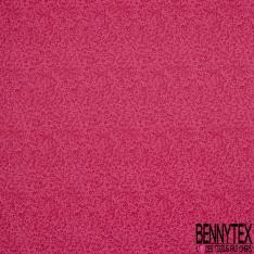 Crétonne 100% coton Impression Motif fleur de sel Fond rose