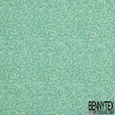Crétonne 100% coton Impression Motif fleur de sel Fond celadon