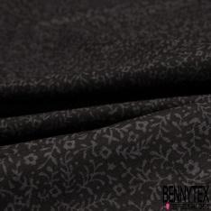 Crétonne 100% coton Impression Motif fleur de sel Fond noir