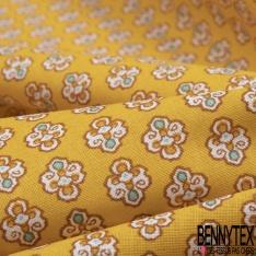 Crétonne 100% coton Impression Motif maillane Fond jaune
