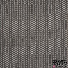 Crétonne 100% coton Impression Motif maillane Fond gris