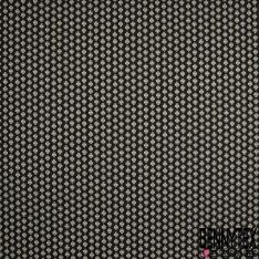 Crétonne 100% coton Impression Motif maillane Fond noir