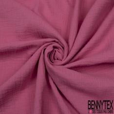 Coton Double uni rose purle