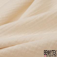 Coton Double uni beige vanille