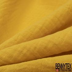 Coton Double uni jaune soleil