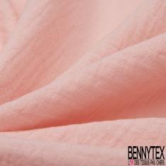 Coton Double uni rose
