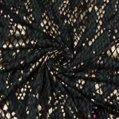 Jersey Viscose Imprimé Motif peaux de reptile tons kaki or noir