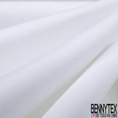 Popeline Twill Coton Unis Blanc