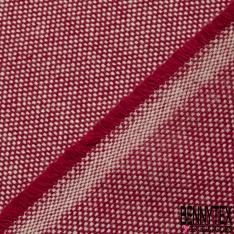 Coton Natté Unis rouge cerise