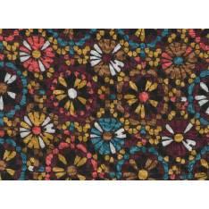 Fibranne Viscose Imprime Rosace Multicolor