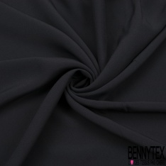 Crêpe caddy viscose luxe noire