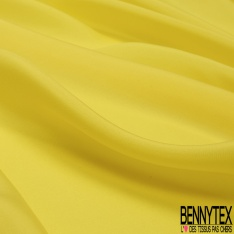 Pongé de Soie Uni jaune vif